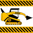 Stock Vector: Bulldozer, construction machine vector