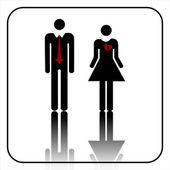 男性和女性的标志矢量 — 图库矢量图片