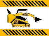 Bulldozer, construction machine vector — Stock Vector