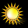 Sun icon vector — Stock Vector