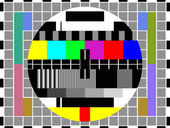 Modern LCD TV set , vector — Stock Vector