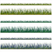 Grass backgrounds, vector isolated over white background and gr — Stock Vector