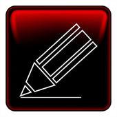 Pen button vector — Stock Vector