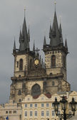Tyn Cathedral in Prague, Czech Republic — Stok fotoğraf