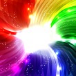 Rainbow swirl background - Stockvektor
