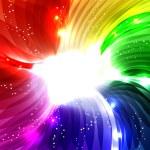 Rainbow swirl background — Stock Vector