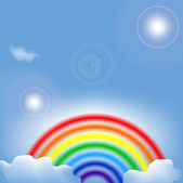 Abstract background with rainbow — Stock Vector