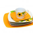 Stock Photo: Orange plates