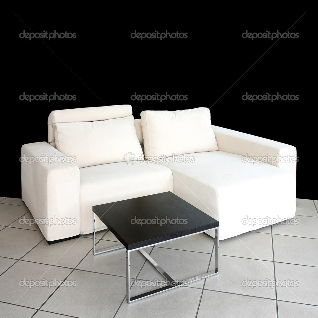 Interior shot of living room with white sofa  Stock Photo #2779361