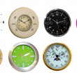 Stock Photo: Eighyt clocks
