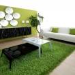 Green living room — Stock Photo