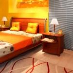 moderne Schlafzimmer-detail — Stockfoto