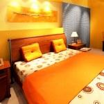 moderne Schlafzimmer-Interieur — Stockfoto