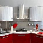 Silver kitchen counter — Stock Photo