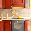 Wooden kitchen detail — Stock Photo