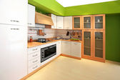 Green kitchen 3 — Foto Stock