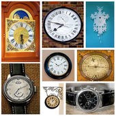 Nine clocks — Stock Photo