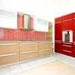 Red kitchen angle 2 — Stock Photo #2913297