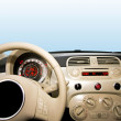 Small car interior — Stock Photo