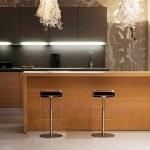 Wooden kitchen counter — Stock Photo