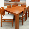Wooden table — Stockfoto