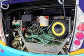 Bus engine angle — Stock Photo