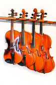 Four violins — Stock Photo