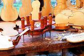 Violin workbench — Stock Photo