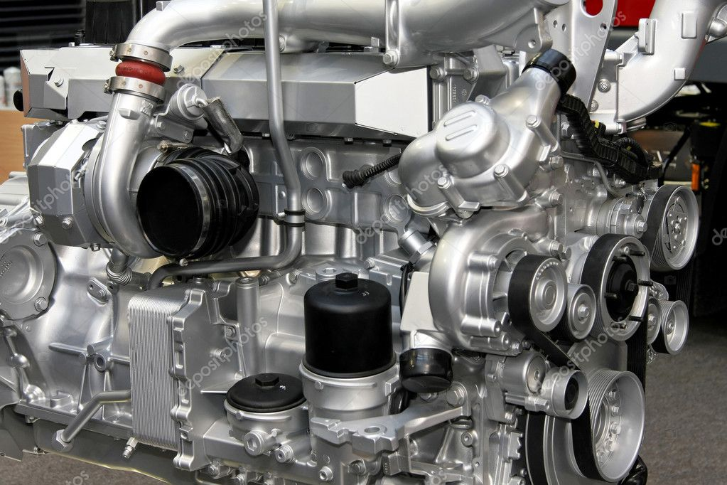 Close up shot of turbo charged diesel engine — Stock Photo #2911736