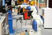 White robotic arm — Stock Photo