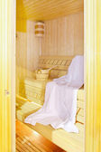 Inside sauna — Stock Photo