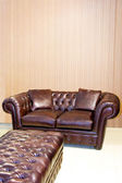 Leather settee — Stock Photo