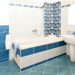 Bathroom blue — Stock Photo