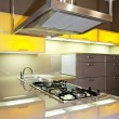 Yellow kitchen stove — Stock Photo #2979591