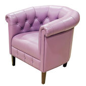 Purple armchair — Stock Photo