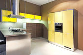 Yellow kitchen angle — 图库照片