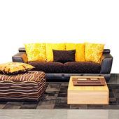Sarı oturma odası — Stok fotoğraf