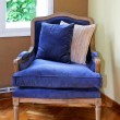 Stock Photo: Blue armchair