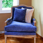 Blue armchair — Stock Photo