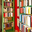 Book shelves — Stock Photo