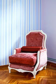 Red armchair — Stock Photo