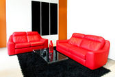 Red sofas — Stockfoto