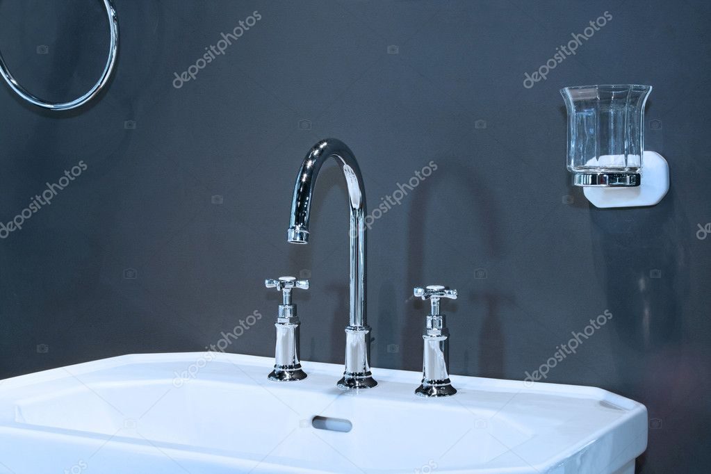 Close up shot of classic style wash basin  Stock Photo #3036861