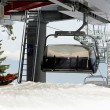 Chair lift cabin — Stock Photo