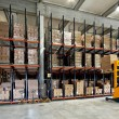 Warehouse forklifter — Stock Photo