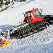 Snow groomer hill — Stock Photo