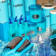 Stock Photo: Blue kitchenware