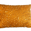 Golden pillow - Stock Photo