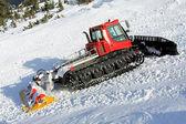 Snow groomer hill — Stock Photo