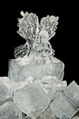 Ice angel — Stock Photo